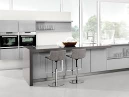 kitchen trends 2017 light grey gloss lacquer with contrasting