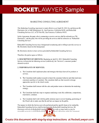 Marketing Consulting Agreement Contract