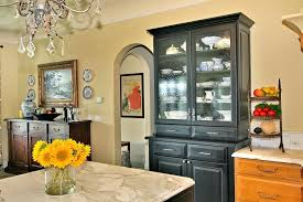 Black Dining Room Hutch China Cabinet Glamorous Buffet In Kitchen Traditional With Next To Cabinets Alongside And Pull Out