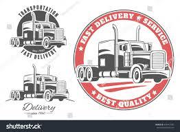 100 Semi Truck Logos Set Vector S Stock Vector Royalty Free 370412750