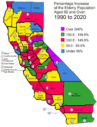 Map Of The Percentage Increase Oldest Old Population Aged 60 And Over Years