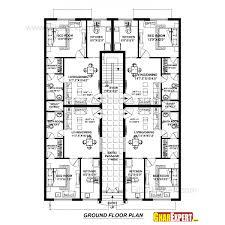 Astonishing Small Modern Duplex House Plans Design Map Sample Home