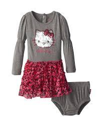 stylish hello kitty baby dress set with diaper bottom baby
