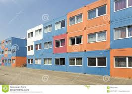100 Cargo Houses Container Built For Students Stock Photo Image Of