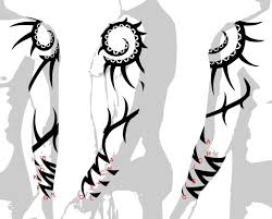 Tribal Tattoo Sleeves Designs Drawings