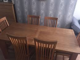 Solid Oak Dining Table And 6 Chairs In Oldham For £150.00 For Sale ... Studio 7 Interior Design Shop These Rooms Luxury Style Family Room Area With Stainless Steel Arc Top Gel The Best Sofas For Small Spaces Of 2019 Sherrill Fniture In Brown Tones With High Vaulted Ceiling Over Need A Living Makeover Ding Accent Chairs Cheap Awesome Solid Oak Ding Table And 6 Chairs In Oldham 15000 Sale Modern Affordable Unique Edgy Cb2