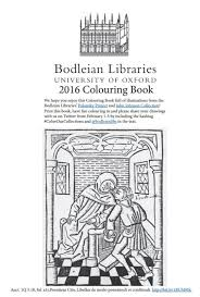 Library Journal Bodleian Wants You To Color Their Collections
