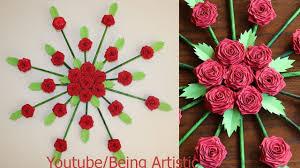 Life Hacks Videos Paper Flower Wall Hanging