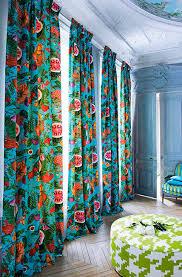 tissu pour rideaux à motif en coton serendip jamaica