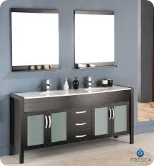 Double Faucet Trough Sink Vanity by Innovative Double Faucet Bathroom Sink And Double Faucet Trough