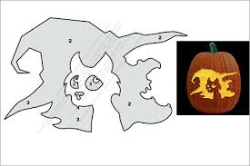 Pumpkin Carving Witch Face Template by 24 Cat Pumpkin Templates To Get Your Scare On This Halloween