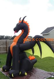 Gemmy Inflatable Halloween Animated Dragon by 7 5 U0027 Wide Animated Fire Dragon Gemmy Halloween Airblown Inflatable