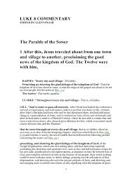 LUKE 8 COMMENTARY EDITED BY GLENN PEASE The Parable Of Sower 1 After This