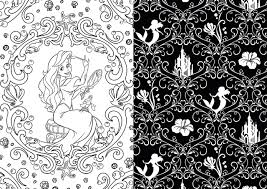 Homely Inpiration Black Coloring Books Art Of Disney Princess 100 Images To Inspire Creativity