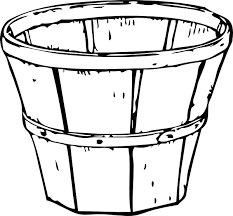 Basket Apple Empty Black And White Container