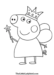 Peppa Pig Queen Coloring Page