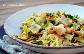 recette de salade de pâtes au poulet vinaigrette moutarde et