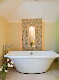 Bathroom Mosaic Mirror Tiles by Mosaic Tile Designs Modern Bath With Mosaic Tile Detail Tub U0026