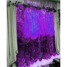 metallic foil tinsel fringe curtain door rain home room wedding