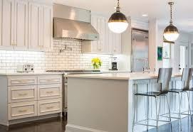 light gray painted kitchen cabinets transitional kitchen