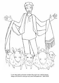 Excellent Jesus The Good Shepherd Coloring Pages And Lost Sheep Parable