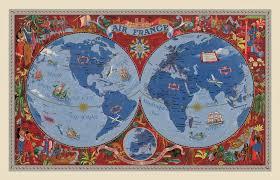 Air France World Map C1938