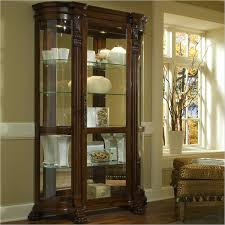 pulaski foxcroft curved end curio cabinet pulaski furniture and room