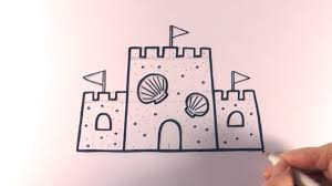 How To Draw A Cartoon Sandcastle