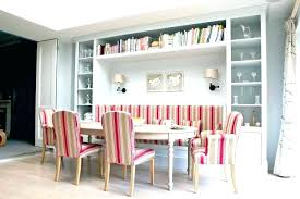 Built In Dining Room Table Bench Seating With Red Seat
