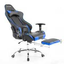 Reclining Gaming Chair With Footrest by Neader Racing Chair Executive Gaming Chair Luxury Leather High