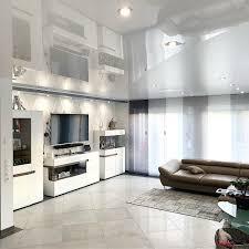 wohnzimmer renovieren stil spanndecken