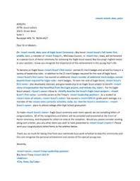 Parent Re mendation Letter For Eagle Scout