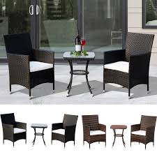 Details About 3 PC Rattan Wicker Patio Bistro Table Set With Cushioned  Chairs Outdoor Americana Wicker Bistro Table And Chairs Set Plowhearth Royalcraft Cannes Brown Rattan 3pc 2 Seater Cube Breakfast Ceylon Outdoor 3piece By Christopher Knight Home Hampton Bay Aria 3piece Balcony Patio Sirio Valentine Swivel Ellie 3 Piece Folding Fniture W Round In Dark Outdoor Cast Alinium Rattan Ding Sets Georgina With Cushions Wilko Effect