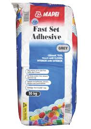 mapei fast set powder wall floor tile adhesive grey 20kg
