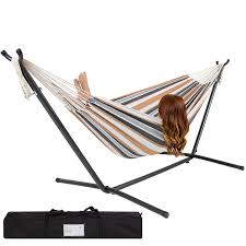 Amazon Best Choice Products Double Hammock With Space Saving