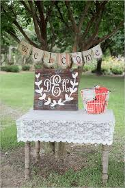 Gallery Rustic Backyard Welcome Table Ideas