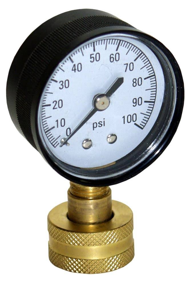 Water Source Water Pressure Test Gauge - 100 PSI
