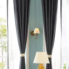 chevron jacquard linen cotton blend modern living room curtains