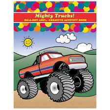 100 Mighty Trucks Activity Book DADB375 DoADot Art