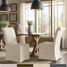 Potomac Slipcovered Rolled Back Parsons Chairs (Set Of 2) By INSPIRE Q  Artisan Buy Chair Covers Slipcovers Online At Overstock Our Best Parsons Chair Slipcover Tutorial How To Make A Parsons Elegant Slipcover For Ding Room Chairs Stylish Look Homesfeed How Fun Are These Slipcovers From Pier 1 20 Awesome Scheme Ready Made Seat Table Rated In Helpful Customer Reviews With Arms 2081151349 Musicments Transformation Without Sewing Machine Build Basic Decorating Gorgeous Shabby Chic For Lovely Fniture