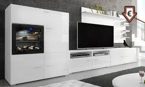 wohnzimmer garnitur mit weinschrank in weiß oder schwarz inkl versand 63 sparen