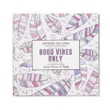 Typo Between The Lines Colouring Book Good Vibes Only