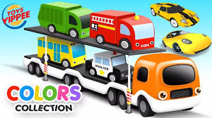 Colors For Children To Learn With Car And Monster Trucks Toys ...