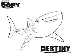Great White Shark Coloring Pages To Print Finding Dory Sheet Free Printable Color Page Mean Realistic