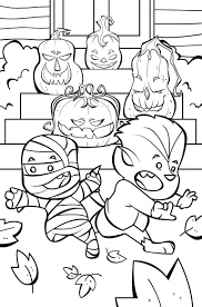 Halloween Disney Coloring Pages To Print Pumpkin Very Scary Jack Lantern Page Full Size