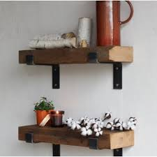 Buckelew Made Chunky Reclaimed Barn Wood Wall Shelf Set Of 2
