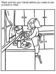 Coloring Page Wash And Dry