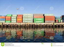 100 Shipping Containers California Stacked On Dock Editorial Stock Image Image Of