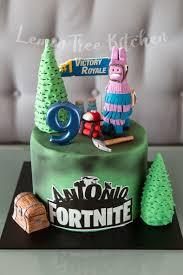fortnite fondant cake pig birthday cakes lemon cake