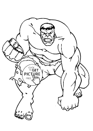 The Hulk Coloring Pages For Kids Printable Free Disney